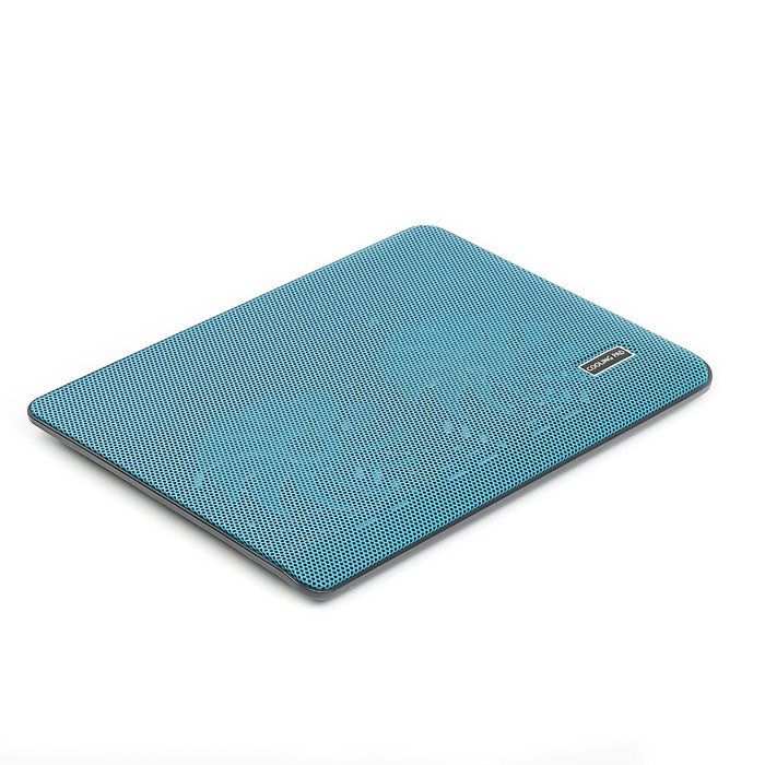 Подставка Luazon для охлаждения ноутбука, синяя, провод 40 см, 2 вентилятора