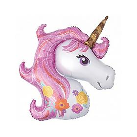 "Foil balloon 16"" ""Unicorn"", color pink"