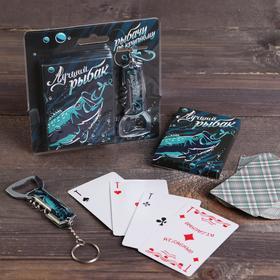 Набор 'Лучший рыбак', карты, нож-мультитул Ош