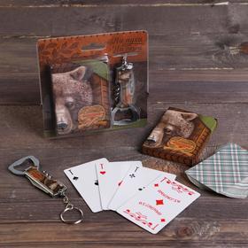 "A set of ""Best hunter"", card, knife-multitool"