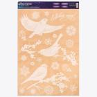 Наклейка для окон «Зимние птички» , 33 х 50,5 см