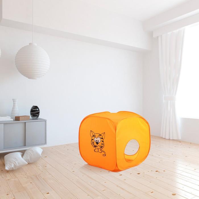 Палатка детская «Домик. Весёлый тигрёнок», 60 × 60 × 60 см - фото 3442575