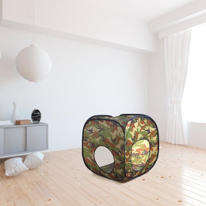 Палатка детская «Домик. Хаки », 60х60х60 см