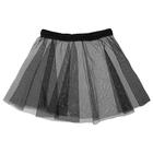 Skirt gymnastic mesh size 24-26 (XXS), color: black