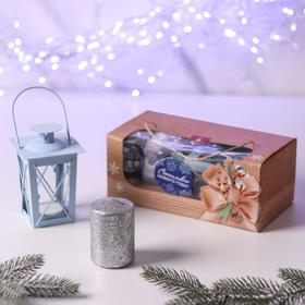"""Новогодний набор свеча и фонарик """"Счастливого нового года"""""""