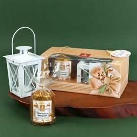 """Новогодний набор свеча и фонарик """"Исполнения желаний"""""""