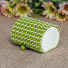 "Box straw ""Stripes"" green beige 5x7,5x5,5 cm"