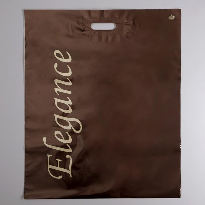 """Пакет """"Леди Элеганс"""", полиэтиленовый с вырубной ручкой, 50 х 60 см, 100 мкм - фото 308983619"""