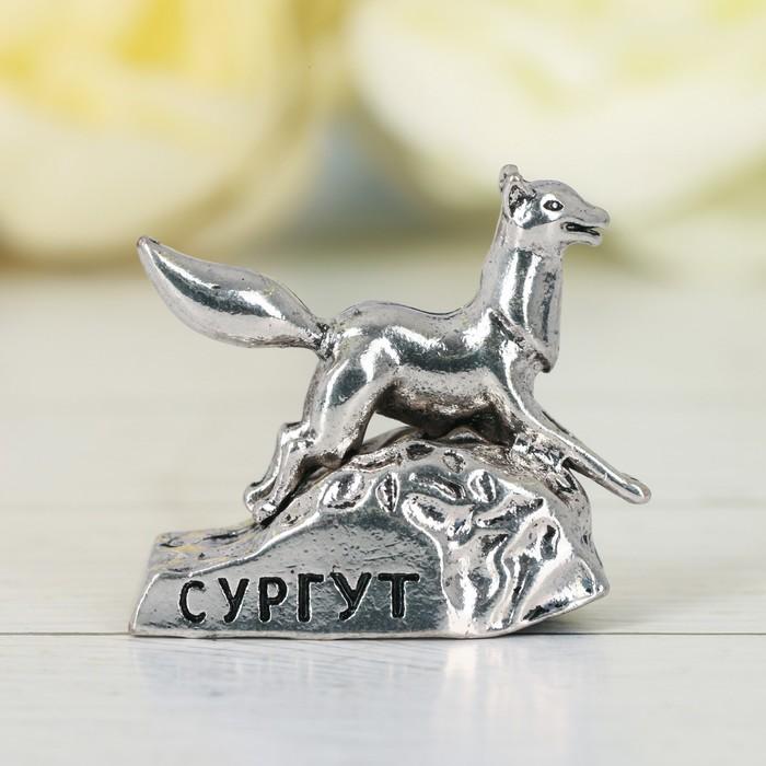 Фигурка «Сургут. Чёрный лис», под черненое серебро
