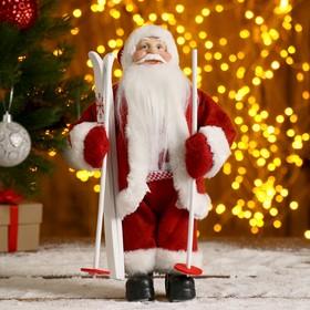 """Дед Мороз """"В красной шубке, на лыжах"""" 29 см"""