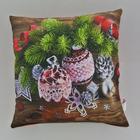 Подушка-игрушка декор. Праздник 13 40х40 см, габардин, синтетич.волокно, 160 гр/м, пэ 100%