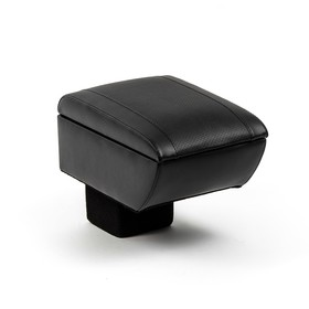 Armrest Chevrolet Niva, 2014-N. D., leather, with insert in the Cup holder, black