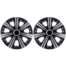 Колпаки колесные R14 DTM Super Black, набор 2 шт. Ош