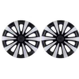Колпаки колесные R14 'Карат' Super Black, набор 2 шт. Ош