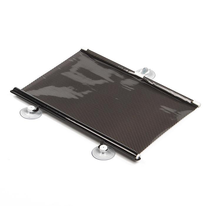 Автомобильная шторка на стекло, раздвижная 40 x 125 см, цвет черный