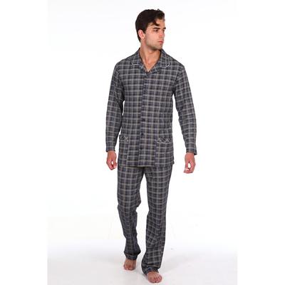 Пижама мужская (сорочка, брюки) 216 цвет синий, р-р 54