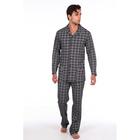 Пижама мужская (сорочка, брюки) 216 цвет синий, р-р 56
