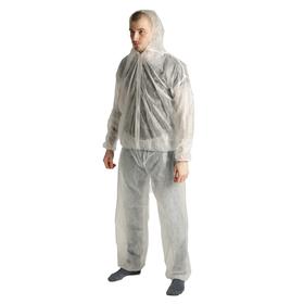 Костюм защитный, размер XL (50-52), с молнией, белый Ош