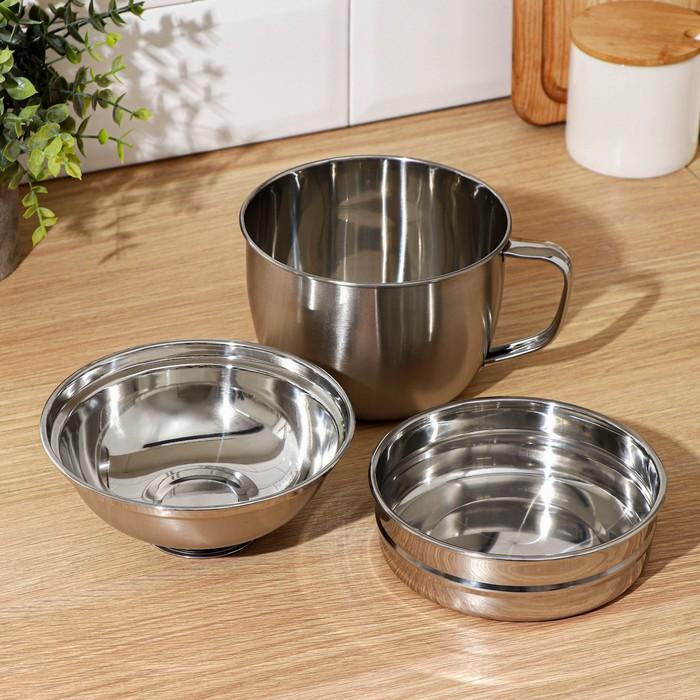 "Набор посуды 3 предмета""Турист"": кружка 800 мл, миска 350 мл 15 см, тарелка 250 мл 14 см"