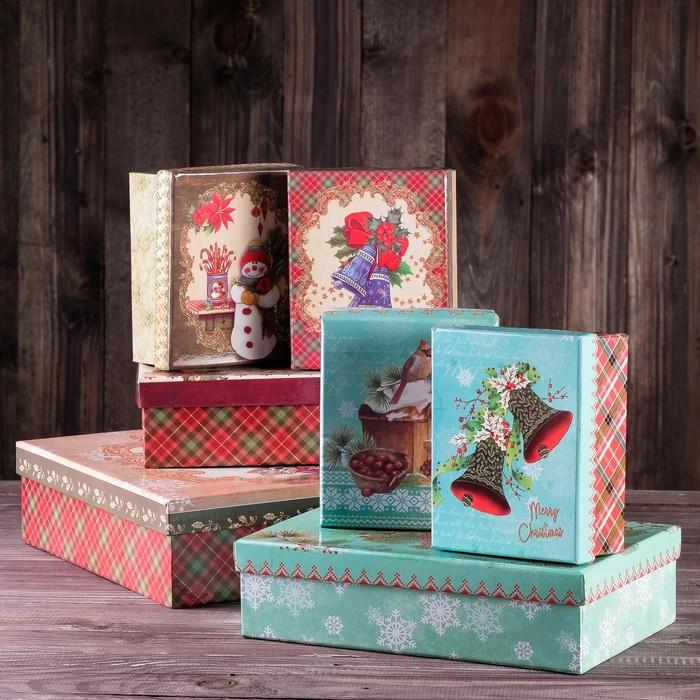 """Набор коробок 7в1 """"Рождественское ассорти"""", 34 х 26 х 7.5 - 14 х 11 х 5.5 см"""