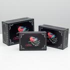 "Set boxes 3in1 ""bullfinch on a branch"", 22 x 16 x 8.5 - 18 x 12 x 5.5 cm"