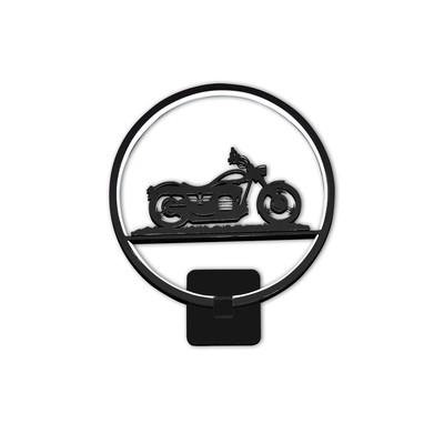 """Бра """"Мотоцикл"""" 18Вт LED черный 30x8x35см"""