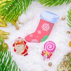 """Набор значков """"Новогодняя сказка"""" носочек новогодний, форма МИКС, цветные"""