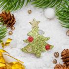 """Брошь """"Новогодняя сказка"""" ёлочка блестящая, цветная"""