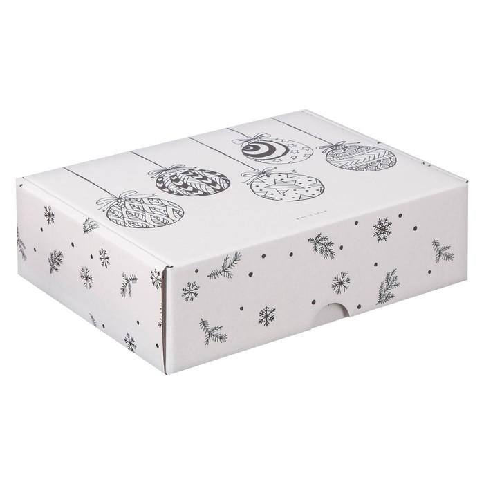 Коробка складная «Новогодние игрушки», 30,7 х 22 х 9,5 см