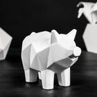 "Копилка ""Свинка оригами"", 18 х 25 см, цвет белый"