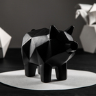 """Копилка """"Свинка оригами"""", 18 х 25 см, чёрный"""