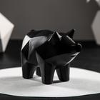 """Копилка """"Свинка оригами"""", 13 х 17 см, чёрный"""