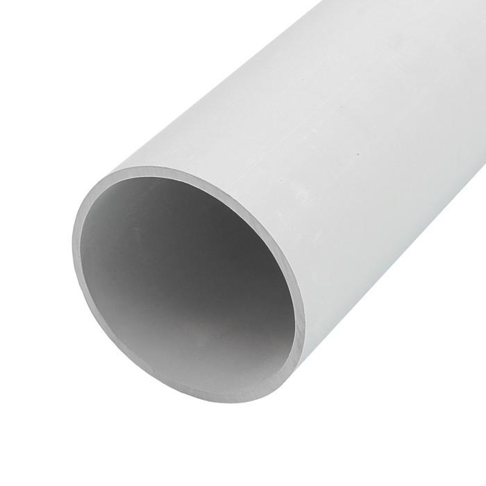 Труба жесткая T-plast, 40 мм, 2 м, серая, 55.02.006.0005,