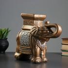 "Подставка ""Слон малый"" 12х30х27см бронза"