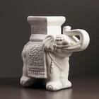 "Подставка ""Слон малый"" 12х30х27см белый"