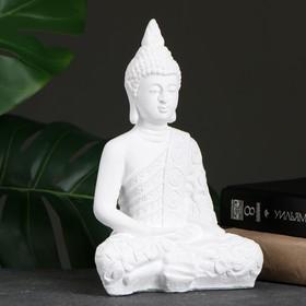 "Фигура ""Будда малый"" 16х9х23см белая"
