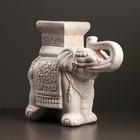 """Фигура - подставка """"Слон малый"""" 12х30х27см бежевый"""
