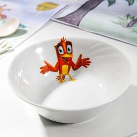 """Салатник 360 мл """"Голубка. Радужные птички"""", 14,5 см, рисунок МИКС"""