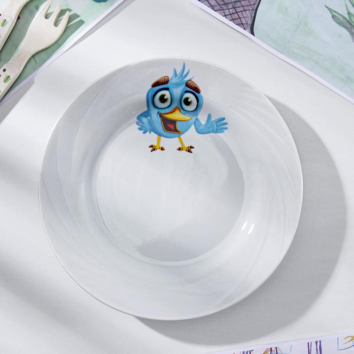 Тарелка мелкая «Голубка. Радужные птички», 17,5 см