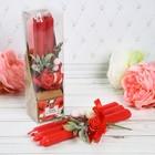 """Набор свечи высокие с цветами """"Любви и тепла"""""""