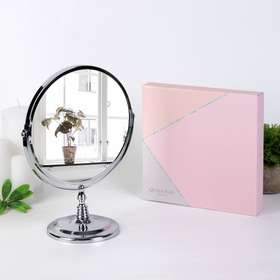 Mirror on the leg, with an increase of d mirror surface — 19 cm, color silver
