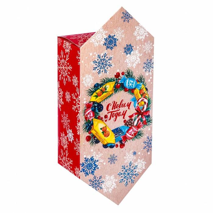 Сборная коробка‒конфета «С Новым годом», 14 × 22 × 8 см