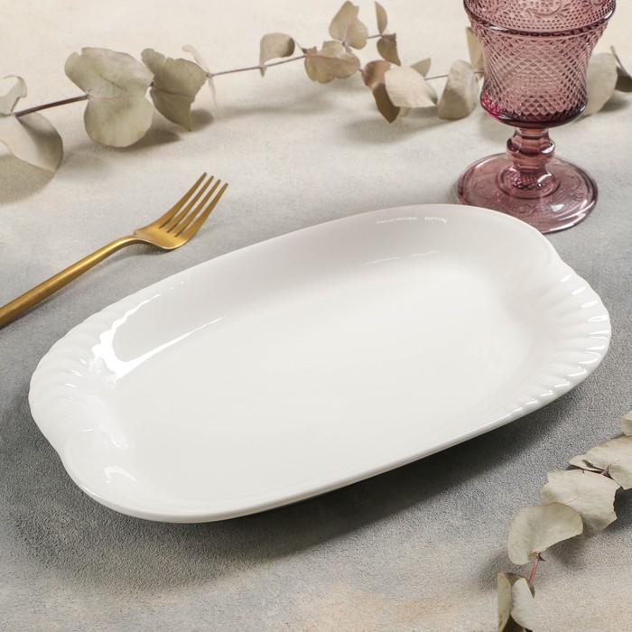 Блюдо прямоугольное White Labe, 30×19×2 см, цвет белый - фото 308066254