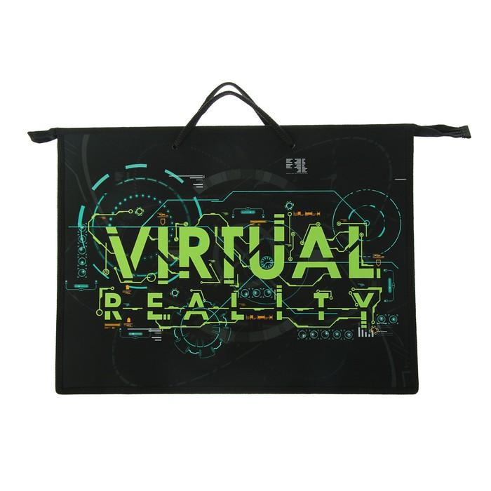 Папка А3 с ручками пластик/текстиль, молния сверху, 420х343х50 мм Virtual