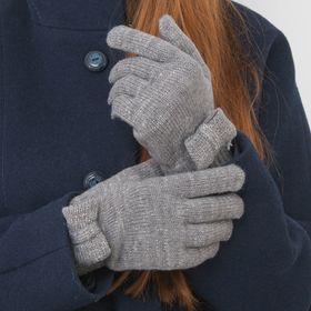 Перчатки женские 'Бант', размер 18, цвет серебро Ош