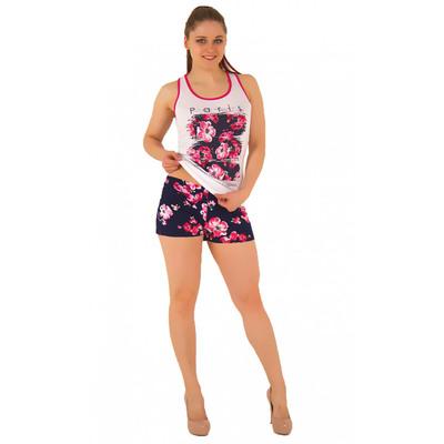 Комплект женский (майка, шорты) М179 цвет розовый, р-р 48