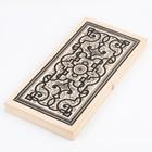 """Backgammon """"East"""", wooden Board 50x50 cm"""