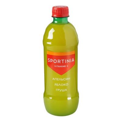 Напиток SPORTINIA VITAMINE C Апельсин /Яблоко /Груша, 0,5 л.