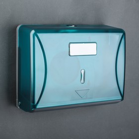 Paper towel dispensers in the leaves 15.5×19×10 cm, plastic, color blue