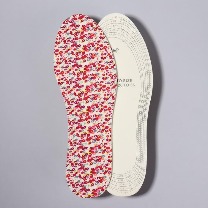 Стельки для обуви, универсальные, 26-36 р-р, пара, цвет МИКС